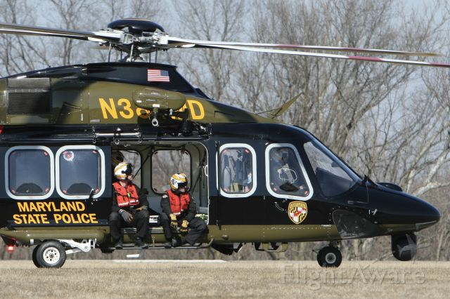 BELL-AGUSTA AB-139 (N384MD) - March 10, 2021 - preparing to take off for hoist training