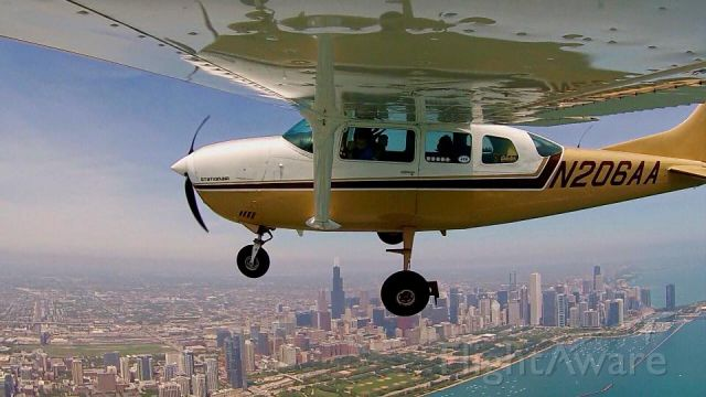 Cessna 206 Stationair (N206AA) - Flying over Chicago!