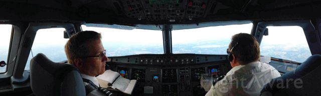 """Airbus A320 — - One of my 1st efforts with the """"Panorama"""" setting.  Kinda fun!"""
