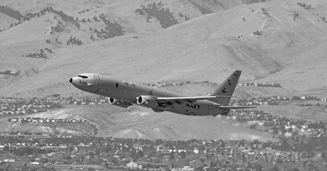 Boeing P-8 Poseidon (16-9332) - Just off 16R.