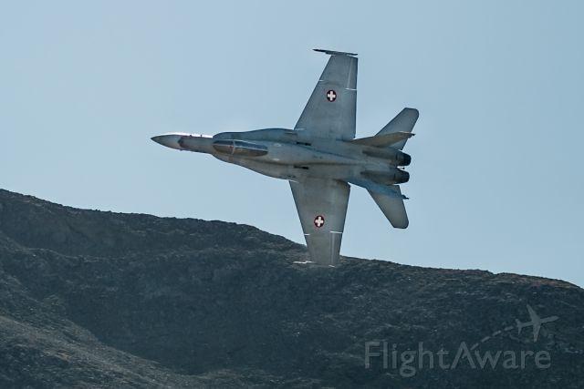 McDonnell Douglas FA-18 Hornet (J5020) - in flight over Axalp training ground
