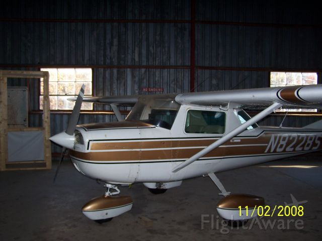 """Cessna Commuter (N8228S) - Photo taken at Scott County, Oneida Tennessee airport in the """"old"""" hangar."""
