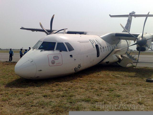 Aerospatiale ATR-42-300 (AP-BHO) - My friend Imran Warris shot this photo