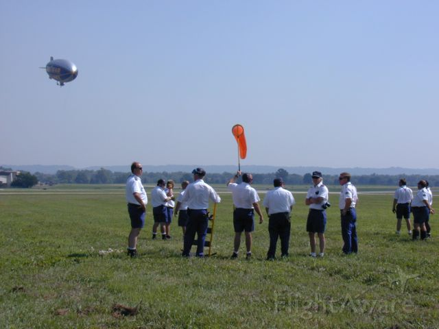 Unknown/Generic Airship (N3A) - Ground crew prepares for mooring.  July 14, 2000