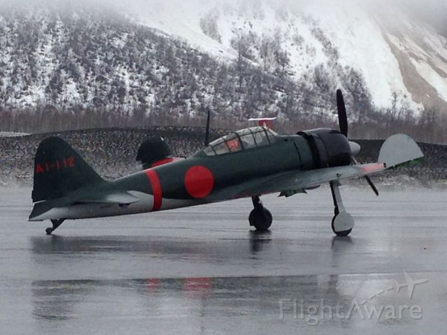 — — - Japanese Zero on the ramp for the May Day fly-in, Valdez Alaska.