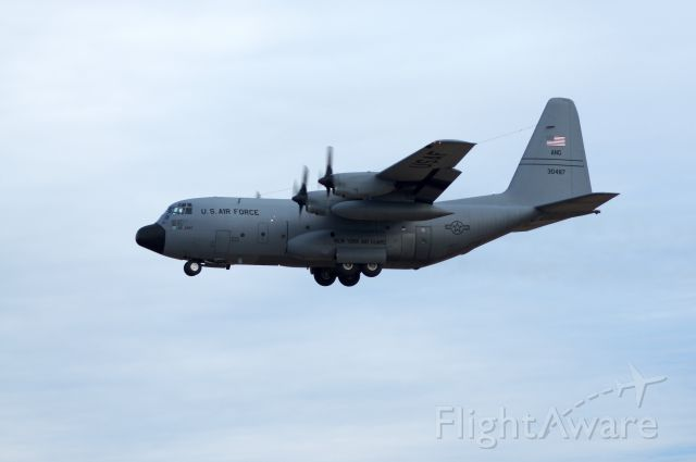 Lockheed C-130 Hercules (N30487) - Practicing touch and go using RWY 1