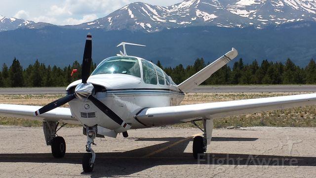 Beechcraft 35 Bonanza (N7946M) - Leadville Colorado Lake County Airport Mount Massive in July