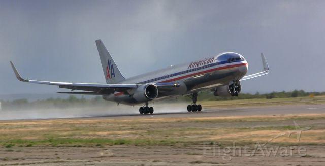 BOEING 767-300 — - American Airlines Boeing 767 takes off from Gander International.