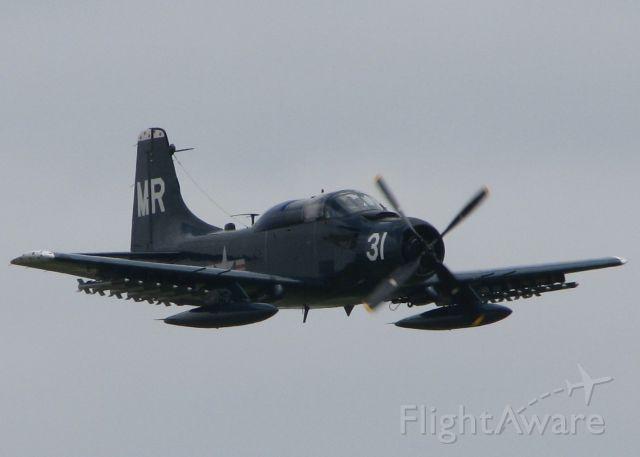 Douglas AD Skyraider (N62466) - At Barksdale Air Force Base.
