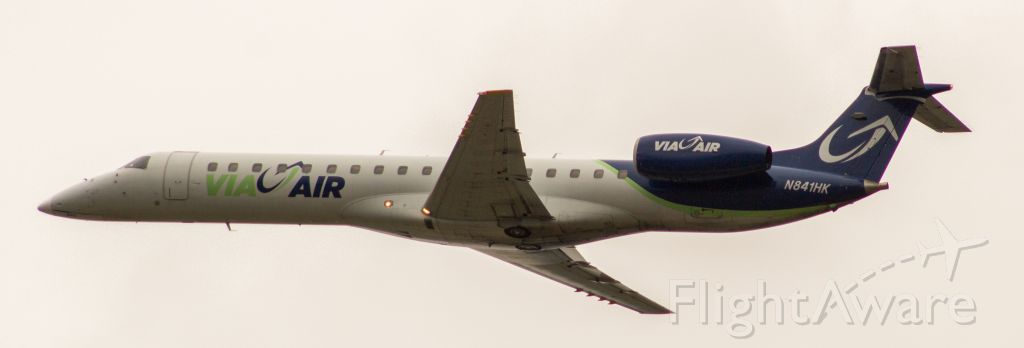 Embraer ERJ-145 (N841HK) - Finally getting a look at this new airline called Via-Air. Flying to Bentonville, AR as VC841.