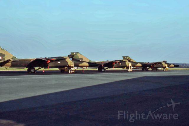 Grumman EF-111 Raven (A8131) - General Dynamics F-111C line up A8-131, 138 n 139 RAAF Pearce (YPEA) November 1978.