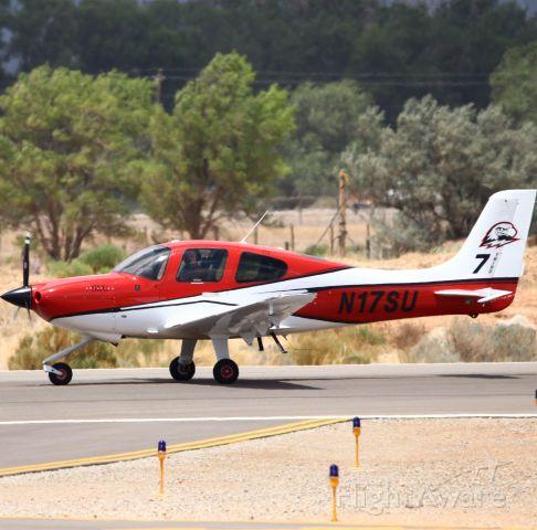 Cirrus SR-20 (N17SU) - My friend took this picture of me, I am the the pilot flying it! Were getting read to takeoff runway 20.