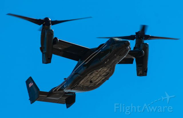 — — - Presidential V-22 Osprey departing Northbound via taxiway Bravo