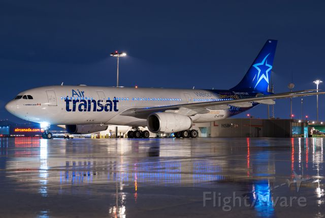 Airbus A310 (C-GTSN) - Push back complete, start of taxi.