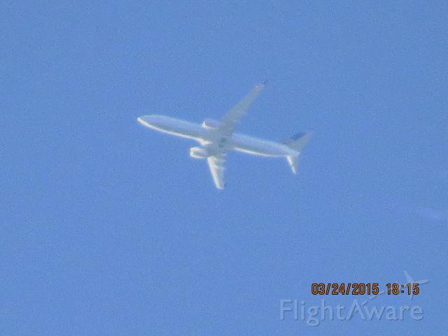 Boeing 737-900 (N73445) - United flight 1290 from ORD to IAH over Southeastern Kansas at 36,000 feet.