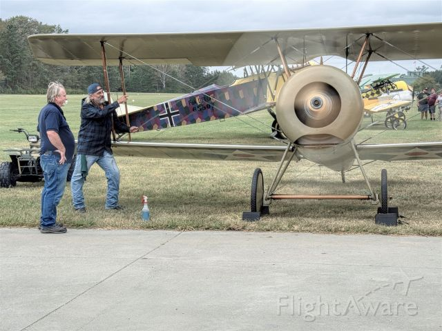 N38663 — - At the 2019 Biplanes and Brews the LeRhone engine in the Thomas Morse S4C was run. Great sound great event.