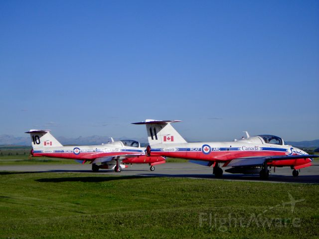 Canadair CL-41 Tutor (11-4013) - The Canadair CT-114 Tutor Royal Canadian Air Force Snowbirds aerobatics team.