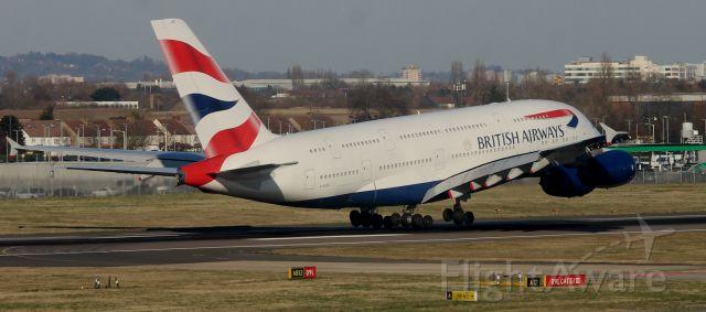 Airbus A380-800 (G-XLEC) - Terminal 5