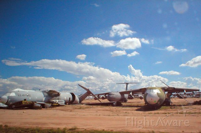 Lockheed C-141 Starlifter (C141) - Future beer cans: C141 Starlifters being destroyed for scrap at Davis-Monthan AFB, the Air Force Material Command