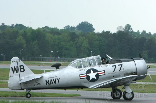 N3931R — - T6 Texan at the Hickory Airport on 4-27-2008 at 16:16