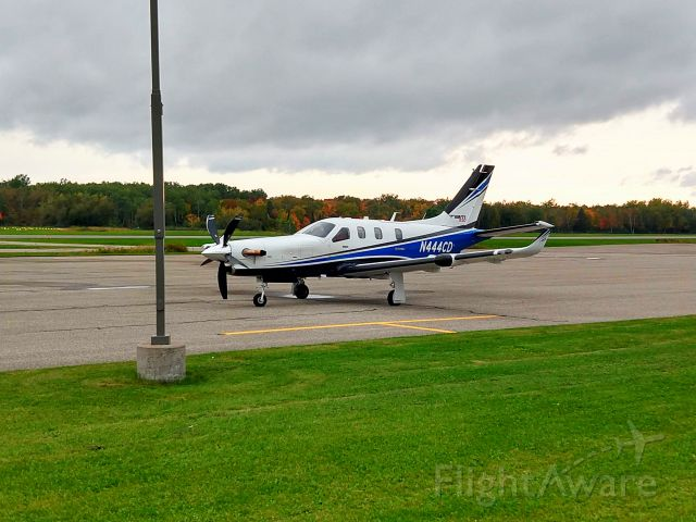 Daher-Socata TBM-900 (N444CD) - N444CD arriving in from Goose Bay after a trip around Europe