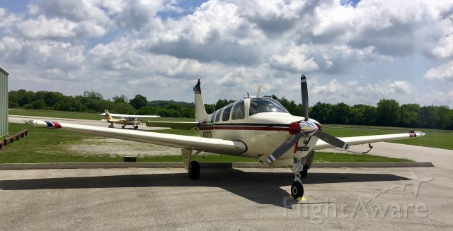 Beechcraft Bonanza (36) (N9087S) - Just arrived from air conditioning installation. About to go back in the hangar.