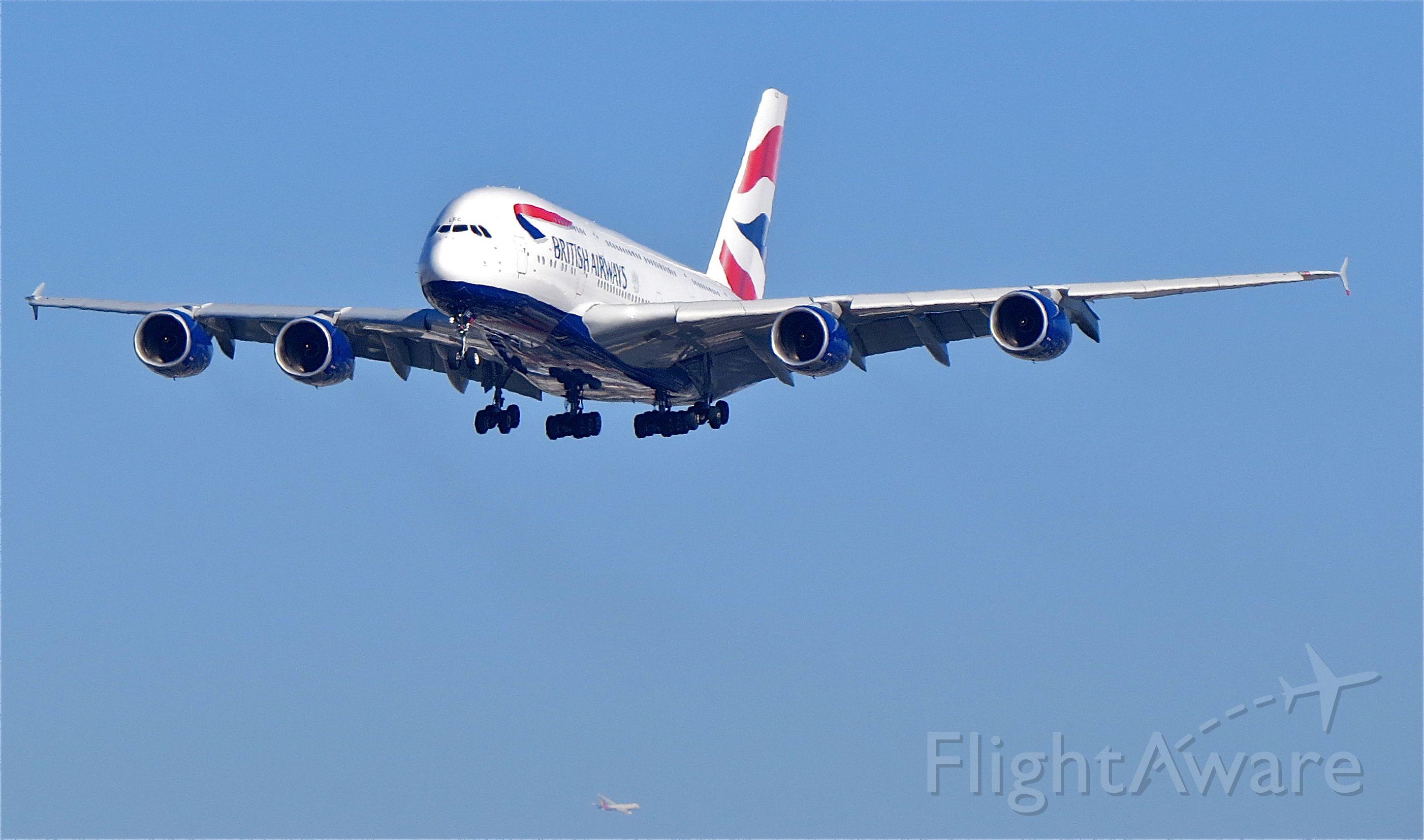 """Airbus A380-800 (G-XLEC) - <a rel=""""nofollow"""" href=""""http://flightaware.com/live/flight/GXLEC/history/20141109/1025Z/EGLL/KLAX"""">https://flightaware.com/live/flight/GXLEC/history/20141109/1025Z/EGLL/KLAX</a>"""