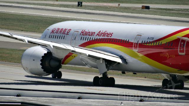Boeing 787-8 (B-2728) - B-2728 Hainan Airlines Boeing 787-8 Dreamliner - cn 34938 / ln 73br /First Flight * Oct 2012br /Age 2.7 Yearsbr /2015-06-19 HU7990 San Jose (SJC) Beijing (PEK) 14:26-->Estimated 16:40