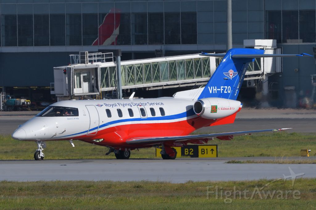 Pilatus PC-24 (VH-FZQ) - Adelaide, South Australia, August 4, 2020. <br /><br />This second Flying Doctor PC-24 based in Adelaide (VH-FMP is the other one) is moving onto Rwy 23 from holding point Bravo 2.