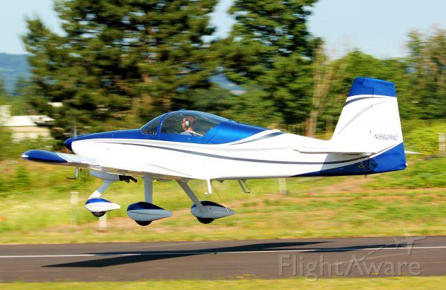 Vans RV-9 (N962MC) - RV-9A departing Starks Twin Oaks Airpark<br>Hillsboro, Oregon. 7-7-12