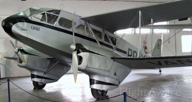 """De Havilland Dragon Rapide (PP-VAN) - Varig Airlines DH-89A """"Chui"""" 1942-1945 this aircraft made the Company's 1st Int´l flight to Montevideo, Uruguay. The de Havilland DH.89 Dragon Rapide was a 1930s short-haul biplane airliner developed and produced by British aircraft company de Havilland. Capable of accommodating 6–8 passengers, it proved an economical and durable craft, despite its relatively primitive plywood construction."""