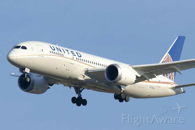 Boeing 787-8 (N20904) - On approach to runway 33 around 5PM