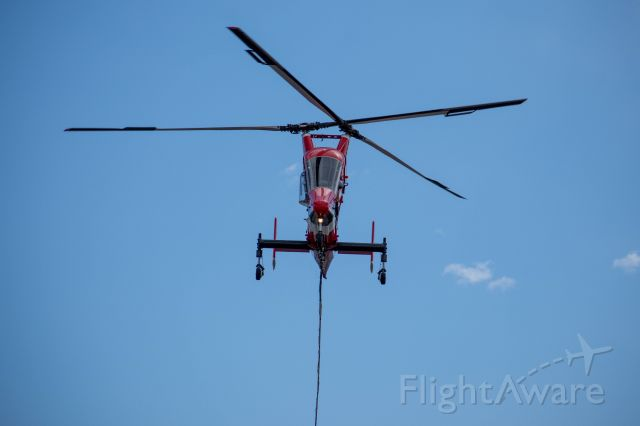 KAMAN K-Max (N161KA) - Working the Loyalton Fire north of Truckee, CA - August 16, 2020