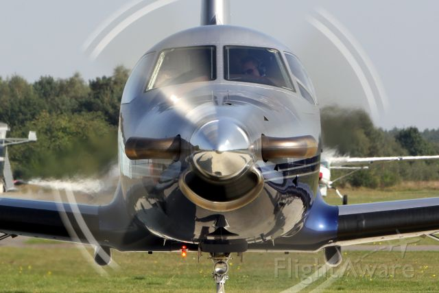"""Pilatus PC-12 (PH-JFS) - More of me at:  http://www.sgmst.nl/photo-portal/photo-portal.htm ...and search for """"photographer"""" Peter Maassen."""