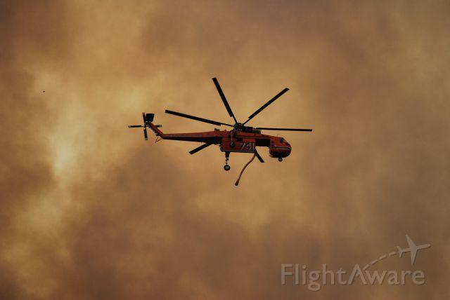 Piper Aerostar (N218AC) - 1967 ERICKSON S64E Rotorcraft during the Beaver Creek fire in Blaine County Idaho summer 2013