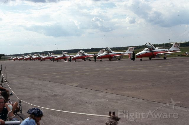 — — - Old picture of Canadian Snow Birds in 1976 at Duluth Air Show.