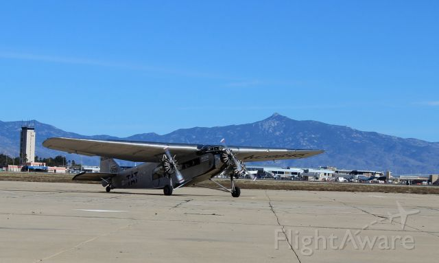 NC9645 — - EAA's Ford Trimotor at Tucson International Airport 1/19/2019