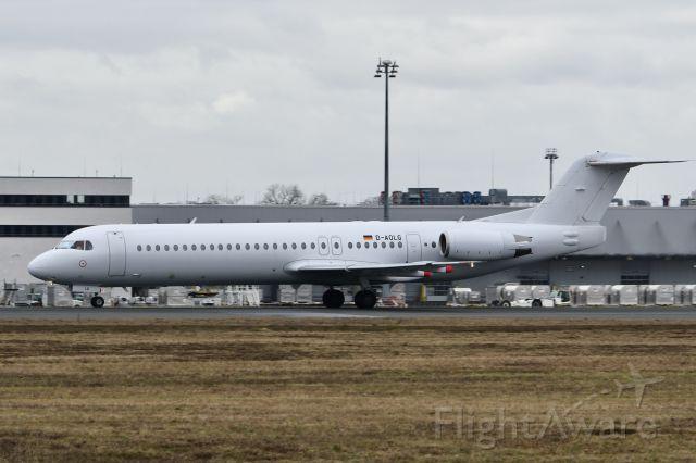 "Fokker 100 (D-AOLG) - D-AOLG F100 Avanti Air in arctic camouflage leaving Cologne-Bonn as ""ATV101G"" to Bern"