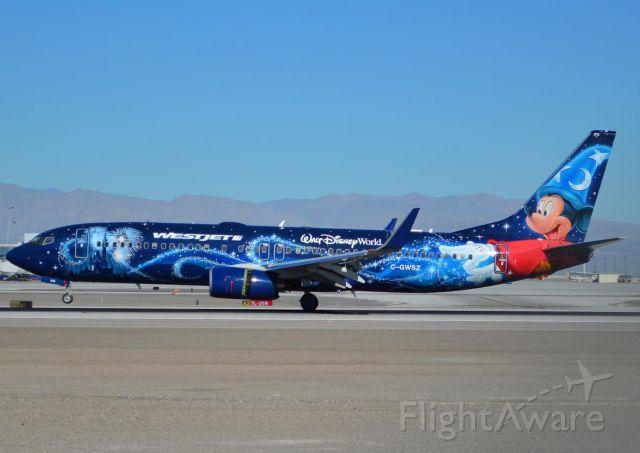 Boeing 737-800 (C-GWSZ) - I love this paint job!