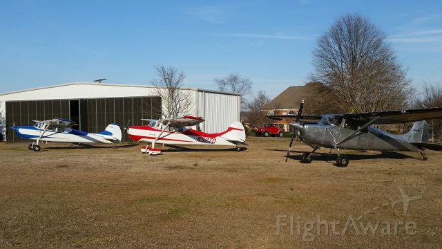 Cessna 170 (N2966D) - THREE 170S AT PEACHTREE LANDINGS IN WARNER ROBINS GA