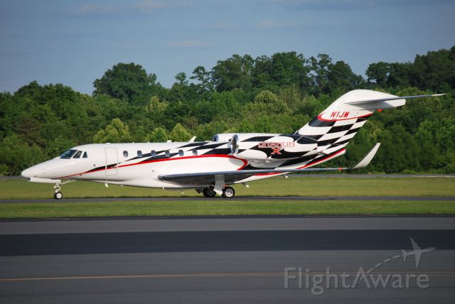 Cessna Citation X (N1JM) - CESSNA FINANCE CORPORATION (NASCAR driver Jamie McMurray) arriving at KJQF - 6/1/14