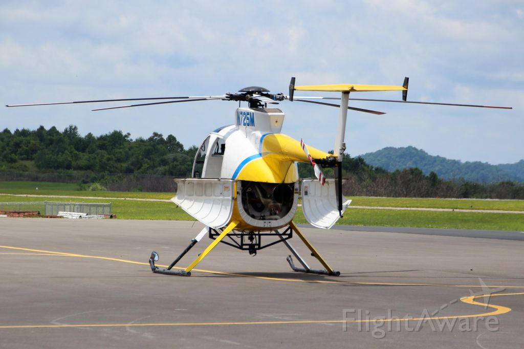 MD Helicopters MD 500 (N725M) - Taken At Logan County Airport. Logan, WV