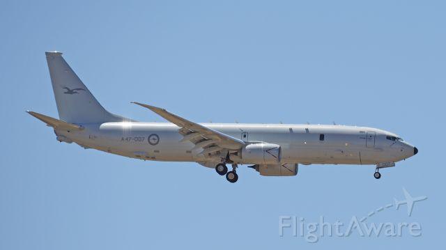 Boeing P-8 Poseidon (A47007) - Boeing P-8A RAAF serial A47-007. RAAF base Pearce 100219