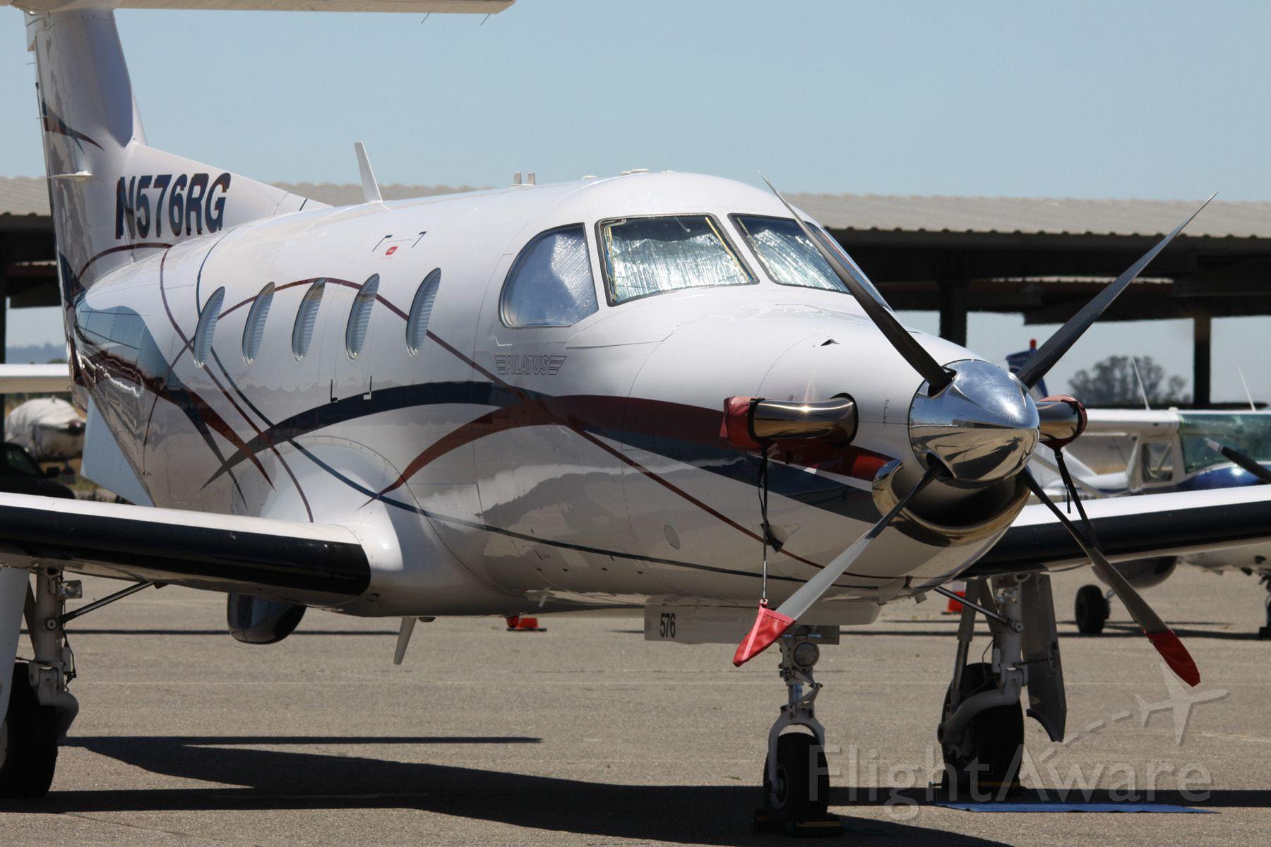 Pilatus PC-12 (N576RG) - Parked, awaiting a flight  06-22-2015