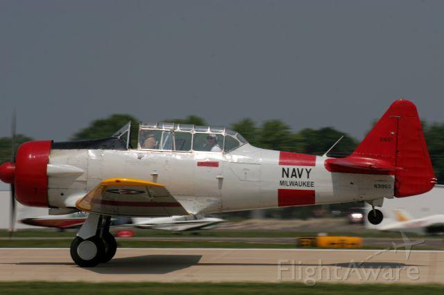 North American T-6 Texan (N3195G) - Take-off Runway 27 Oshkosh 2014 EAA.