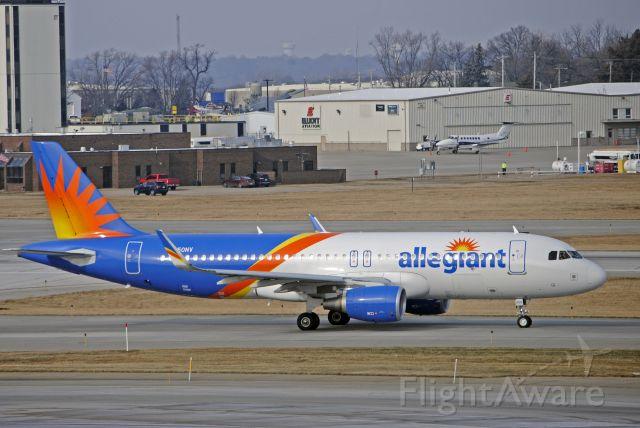 Airbus A320 (N250NV) - Preparing to depart to Phoenix-Mesa.<br /><br />Photo taken: December 23, 2019.