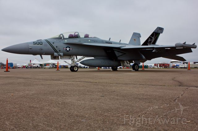 """16-6895 — - EA-18 CAG bird from VAQ-209, the Star Warriors at the 2018 Wings Over Houston Airshow 10/20/2018  (Please view in """"full"""" for highest image quality)"""