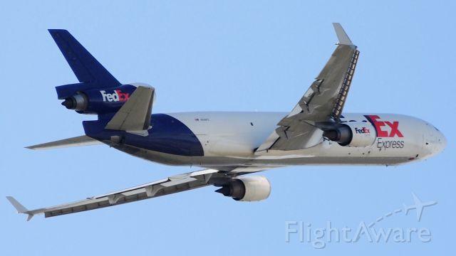 Boeing MD-11 (N618FE) - Departing 36L.