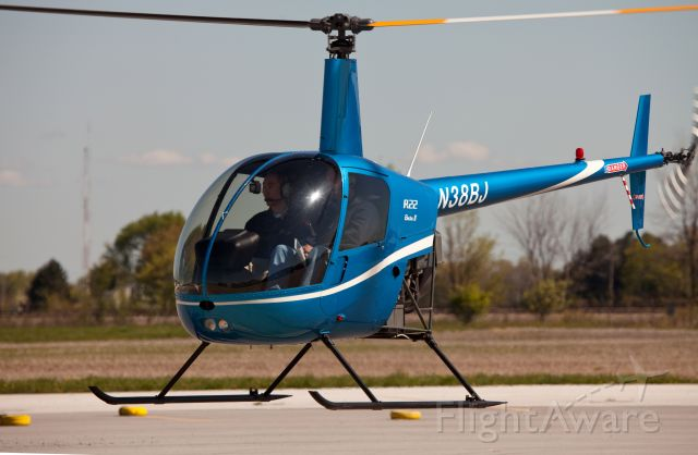 Robinson R-22 (N38BJ) - The pilot passed his PPL checkride - congratulations!