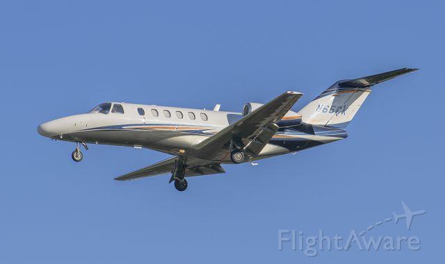 Cessna Citation CJ2+ (N65CK) - Runway 20R arrival @KDPA. Spirit Jet 65.